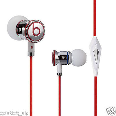 Monster Beats by Dr Dre IBEATS In Ear Headphones Earphones White/Silver NEW
