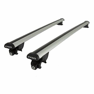 Farad Roof Bars to fit Seat Leon ST Mk.3 13-17 Closed Rails Aluminium Aero Pair