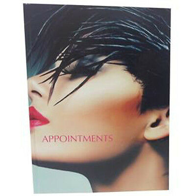 Hairdressers Diary Appointment Book 6 - 12 Columns Modern SIDE FACE Image Design