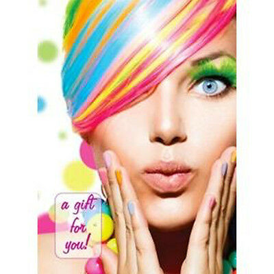 Gift Vouch er Cards for Stylish & Modern Salons Premium Rainbow Design Pk 10