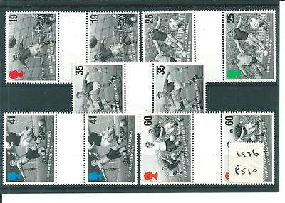 Commems - 1996 - European Football Champions- Gutter Pairs - Unmounted Mint Sets