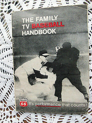 1968 Vintage PHILLIPS 66 Family TV Baseball Handbook