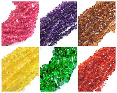"""3x9mm Freeform Crystal Glass Chips Beads 36"""" strand Wholesale Jewelry Making"""