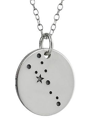Taurus Necklace - 925 Sterling Silver - Stars Charm Zodiac Constellation NEW