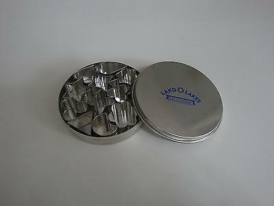 LAND O'LAKES DELI CHEESE CUTTER MOLDS CUTTING MOLDS W/TIN