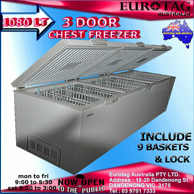 EUROTAG 1080 LT 3 Door CHEST FREEZER RRP$2499.00 Model:EU-1080 BRAND NEW