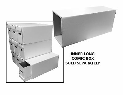 Bundle of 10 New & Improved Long Comic Book Houses Box drawers outer shells