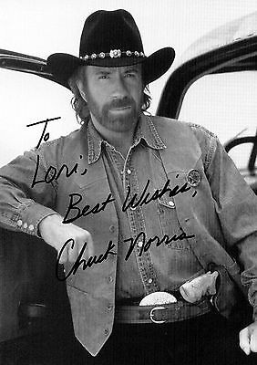 Chuck Norris 01 Signed Photo Print 01A