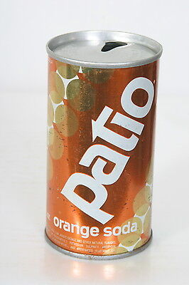 RARE VINTAGE PATIO ORANGE SODA CAN FROM THE MAKERS OF PEPSI COLA - 1/23/14 LOOK!
