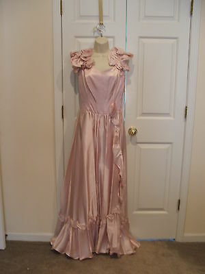NWT Pink SOUTHERN BELLE can be hooped /PRINCESS/vintage prom formal gown small