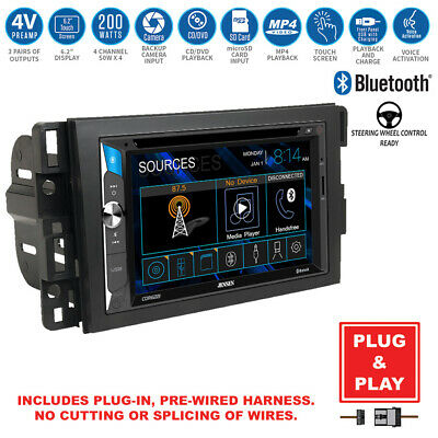 Double DIN Touchscreen Bluetooth USB Radio CD Player+Chevy Car Stereo Dash Kit
