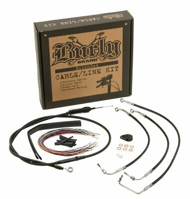 Burly Brand Ext Cable ONLY Kit 16in Burly Ape Hbars Black 08-13 FLHX W/ABS