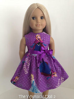 Doll Clothes, Frozen inspired Dress fits American Girl Doll, featuring Anna