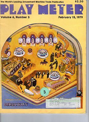 1979 arcade pinball PLAY METER MAGAZINE *Directory* issue~Midway Space Invaders