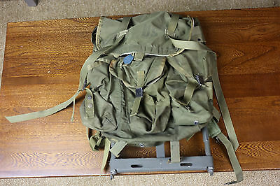 US Army Combat Field Pack Medium Nylon with Metal Frame Backpack