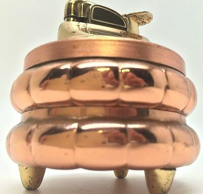 EVANS USA VINTAGE TABLE LIGHTER - GOLD COPPER COLOR