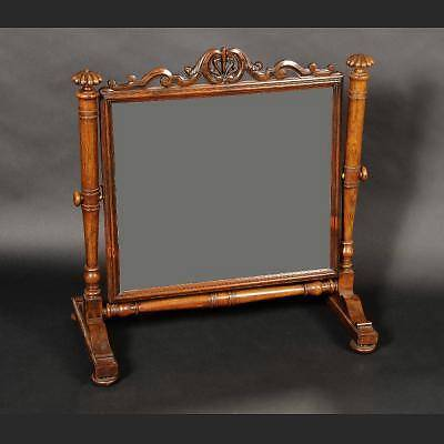 A Beautiful Antique George IV 1830 Rosewood Tilting Mirror/Dressing Glass Carved
