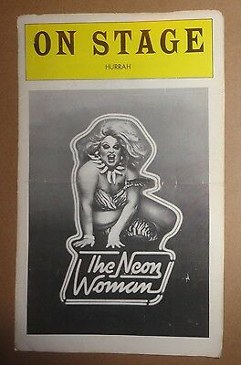 "DIVINE IN ""THE NEON WOMAN"" - ON STAGE [Theater Program] Tom Eyen Burlesque 1963"
