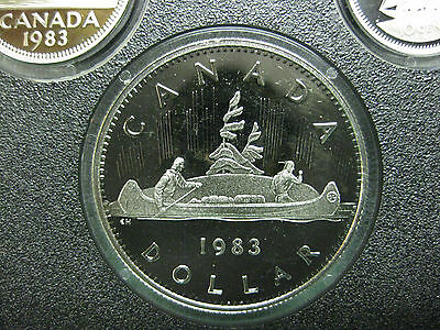 1983 Canadian Frosted Proof Nickel Dollar ($1.00)