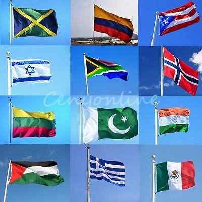 LARGE 5x3FT INTERNATIONAL NATIONAL FLAGS OF THE WORLD BUNTING BANNERS FANS FLAG