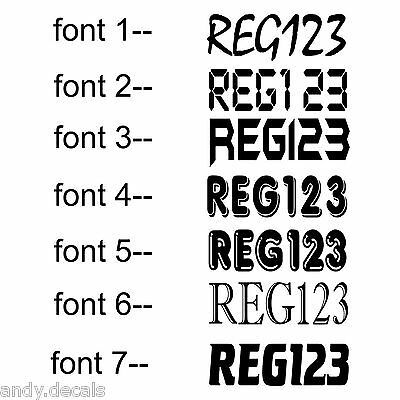 2x 150mm BOAT REGO  REGISTERATION NUMBER sticker vinyl decal (15cm x up to 58cm)
