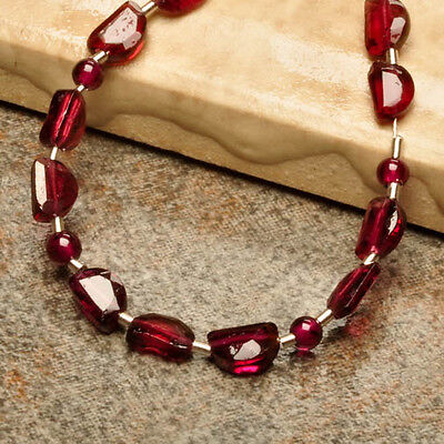 3X5MM-2MM NATURAL GARNET GEMSTONE FACETED FANCY ROUND BEADS 15 PCS JEWELRY
