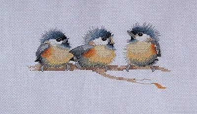 "New completed finished cross stitch Heritage"" Sitting Pretty "" 14CT"