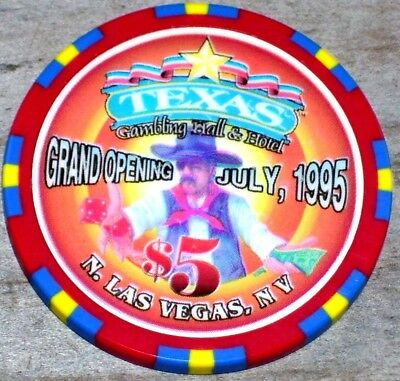 $5 Ltd Grand Opening 1995 Gaming Chip From The Texas Gambling Casino Las Vegas