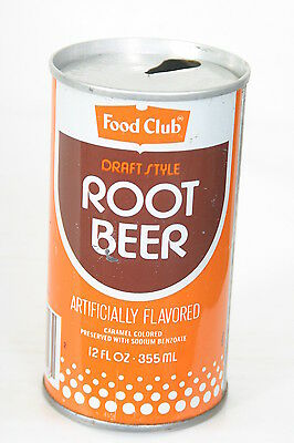 Food Club Root Beer  Soda Can - Pull Tab 12oz S/S - 1/25/14
