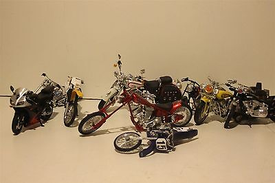 Plastic and Die Cast Motorcycle Assortment Yamaha Chopper Harley Davidson
