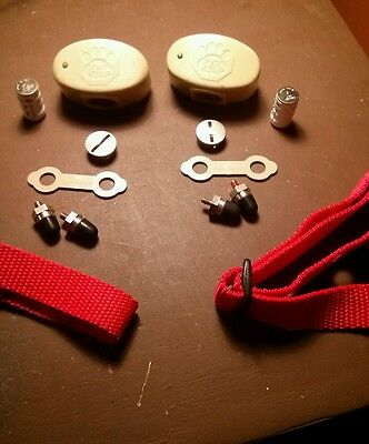Two Pet stop receivers nylon,probes,battery. Used. Read description