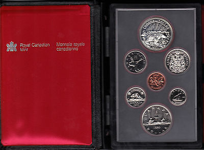 1980 Canada Proof Set in Its Original Packaging. Royal Canadian Mint 7 Coins.