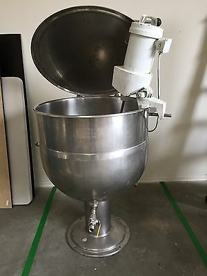 50 Gallon Jacketed Kettle with Lightnin Mixer