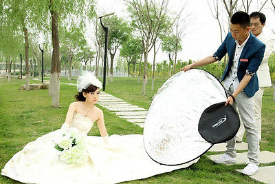 """5in1 43"""" 110cm multi collapsible photograph studio light reflector with free bag"""