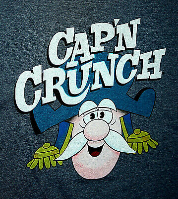 Quaker Captain Crunch Breakfast Cereal New Blue Classic T-Shirt Small