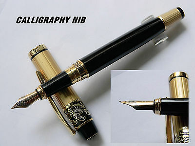HERO 901 fountain pen GoldEN Black CALLIGRAPHY NIB pen