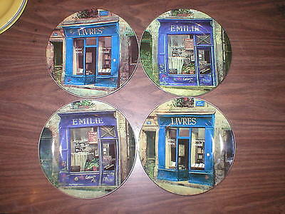 """4 The Sakura Table Storefronts Livres 8 1/4"""" Luncheon Salad Plate Stoneware"""