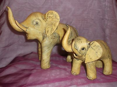 Lot Of 2, Interesting Oyster Shell Figural Elephants Excellent Condition