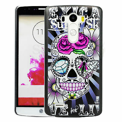 Cool Skull Skin Hard Protective Phone Back Case Accessories Cover For LG G3
