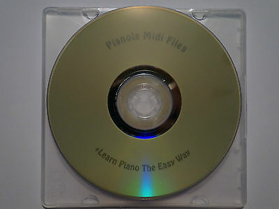 Piano, Pianola, PianoDisc & Disklavier MIDI DVD Disc + Easy Learn To Play Piano