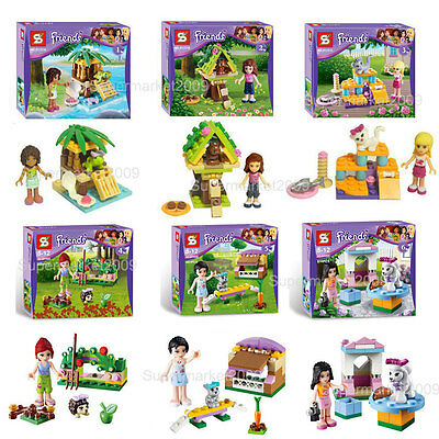 New in OPP Bags Hots 6 sets Friends Girl series building toys Minifigures Doll
