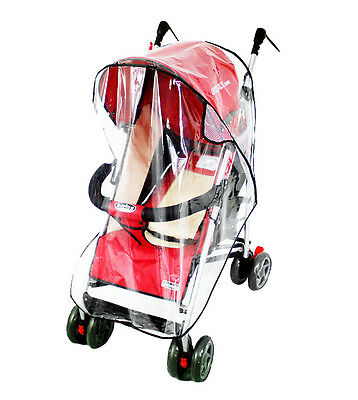 Clear Universal Buggy Baby Pushchair Stroller Waterproof Transparent Rain Cover