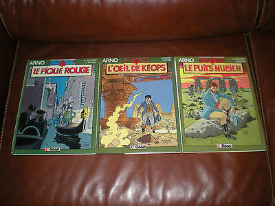 Arno - Lot Des 3 Tomes Dont 2 Editions Originales - Glenat Collection Vecu
