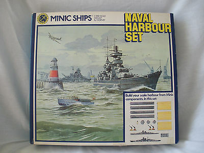 MINIC SHIPS 1:1200 DIECAST BY HORNBY NAVAL HARBOR SET