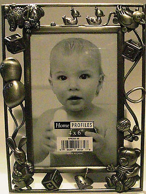 Home Profiles 4 X 6 Baby Child Metal Photo Picture Frame Teddy Bear Bunny Duck