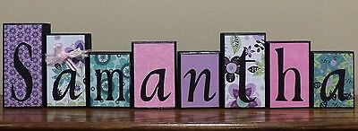 Personalized Name Letter Blocks - Name Sign - Wooden Letters  - Home Decor
