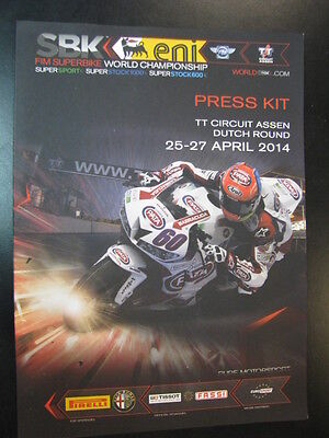 Press Kit FIM Superbike WC Dutch Round 25-27 april 2014 TT Circuit Assen +poster