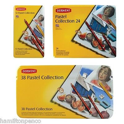 DERWENT PASTEL COLLECTION TIN of soft, smooth, mixed media - various sizes