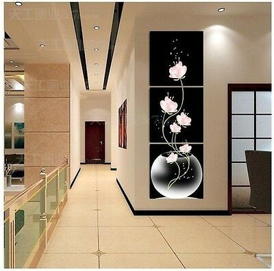 """3P Large TOP Modern """"HOME & WALL """"Decor ART oil painting(no framed)"""