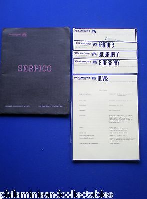 Serpico TV Series  - David Birney   Paramount TV U.S. Promotional Press Kit 1976